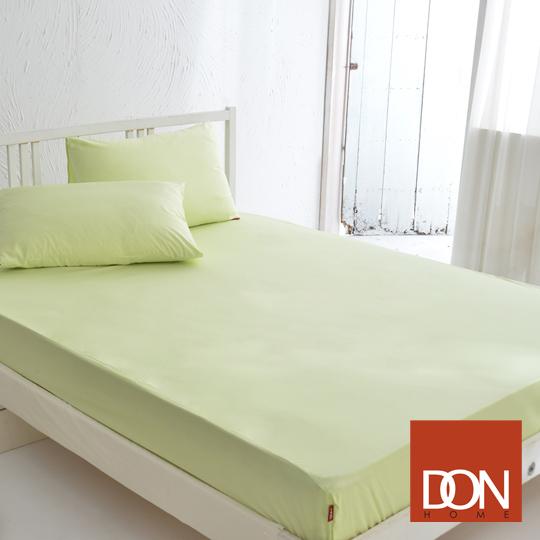 《DON─原色時尚》單人精梳純棉床包組(青蘋綠)