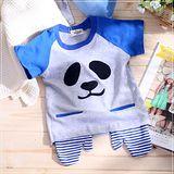 (購物車)魔法Baby ~韓版熊貓臉手套造型口袋短T~時尚設計童裝~k22490