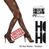 『摩達客』英國進口House of Holland 彩色小骨頭彈性絲襪