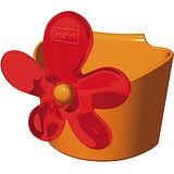 《KOZIOL》April花朵茶包架(橘)