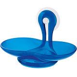 《KOZIOL》Loop吸盤肥皂架(透藍)