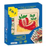 德國Beleduc貝樂多-多層木拼圖-草莓(五合一多層木拼圖)