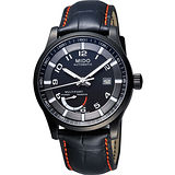 MIDO Multifort Gent 先鋒系列動力儲存機械腕錶(M0054243605222)-黑