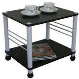 固定腳-活動輪-邊桌(二款可選)深胡桃木色