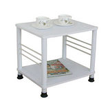 固定腳-活動輪-邊桌(二款可選)素雅白色
