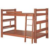 【優利亞-書架型柚木色】單人3.5尺雙層床