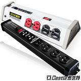 【Castle 蓋世特】專業級音響必備組(OH-T8B)白+(S6B)黑