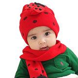 【iSFun】西瓜瓢蟲*兒童圍巾+帽組