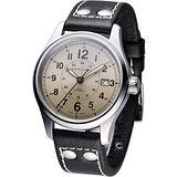 HAMILTON Khaki 航空自動機械腕錶 H70595523 咖啡色