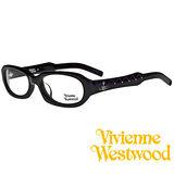 Vivienne Westwood 光學鏡框★英倫時尚菱格紋★復古粗框 平光鏡框(黑) VW205 03