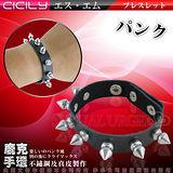 【超商取貨】虐戀精品CICILY-奴役皮革鉚釘手環