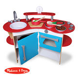 美國瑪莉莎 Melissa & Doug 木製玩食趣 – 小廚師的木製廚房玩具組(DIY)