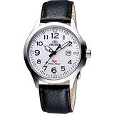 ORIENT 探險家SP石英腕錶-銀/黑 FUNE4009W