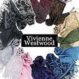 Vivienne Westwood 星球圖騰流蘇圍巾任選均一價