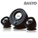 SANYO三洋 2.1聲道多媒體電腦喇叭-聲之藝(黑)