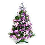 台灣製3尺(90cm)特級松針葉聖誕樹 (+銀紫色系配件)(不含燈)