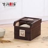 【生活采家】天然桐木5kg碳化型保鮮米箱