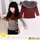 (購物車)魔法Baby~貴族毛絨披肩豹紋上衣(紅/黑豹紋)~DODOMO系列~時尚設計童裝~k26085