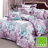 【彩舍家居】牡丹花園。雙人八件式兩用被床罩組