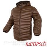 【瑞多仕-RATOPS】男20丹超輕羽絨衣.羽絨外套.保暖外套.雪衣.RAD356 (咖啡色/深咖啡色)