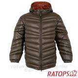 【瑞多仕-RATOPS】男20丹超輕羽絨衣.羽絨外套.保暖外套.雪衣. RAD355 (黑灰色/酒粕色)