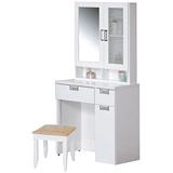 優利亞 艾麗純白2.5尺化妝台(含椅)
