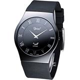 Ogival 愛其華 超薄陶瓷時尚腕錶 320-04MS 黑色