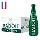 【BADOIT波多】天然氣泡礦泉水(330ml/20入/Glass)