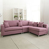 AHOME Jasmine小茉莉收納式L型布沙發(2+2+1/五色)