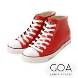 GOA街頭時尚.女款內增高帆布款橡膠雨鞋-紅