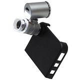 iPhone4/S專用60倍超迷你顯微鏡帶燈送保護皮套(9882IP2)
