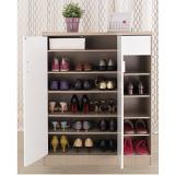 【EASY HOME】雙門附小抽屜鞋櫃-可收納23雙鞋