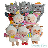 《購犀利》台灣製造【喜羊羊與灰太狼】卡通人物系列手偶-共8款隨機出貨