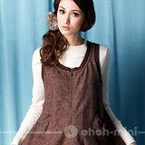 【ohoh-mini】可愛小精靈孕婦短版背心洋裝