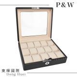 【P&W名錶收藏盒】【玻璃鏡面】碳纖維紋 手工精品 15只裝錶盒