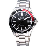 epos 深海探險家200米潛水機械錶-黑/紅 3413.131.91.15.30