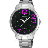 ALBA Fashion Lady 愛戀時尚腕錶-黑/銀 VJ21-X033R