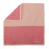 CELINE 素面雙色大版柔棉方巾-粉紅色
