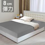 LooCa 黑絲絨竹炭全平面8cm記憶床墊-加大6尺