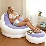 【INTEX】馬卡龍懶人椅(單人充氣沙發椅附腳椅)-顏色隨機 (68572)