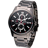 ORIENT 黑武士計時腕錶 FTT12001B
