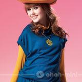 【ohoh-mini】亮彩小包袖孕婦背心上衣