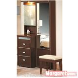 Margaret-甜心圈圈3尺化妝台+椅(2色可選)