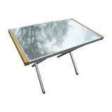 【Outdoorbase】小金鋼-不鏽鋼折合桌-25513