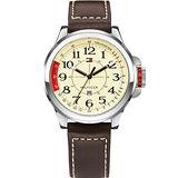 TOMMY HILFIGER 野營羅盤系列腕錶-黃/咖啡 M1790844