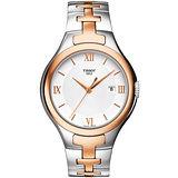 TISSOT T-Trend T12 時尚雅典時刻腕錶-白/半金 T0822102203800