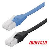 Buffalo 獨家專利水晶頭卡榫反折斷 Cat 6平板網路線(3M)