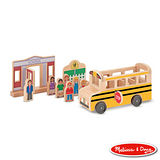 美國瑪莉莎 Melissa & Doug 小人國系列 - 木製學校巴士組