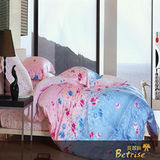 Betrise《春暖花開》雙人加大100%天絲TENCEL四件式兩用被床包組