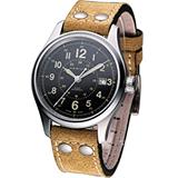 HAMILTON Khaki 航空自動機械腕錶H70595593淺駝黃色